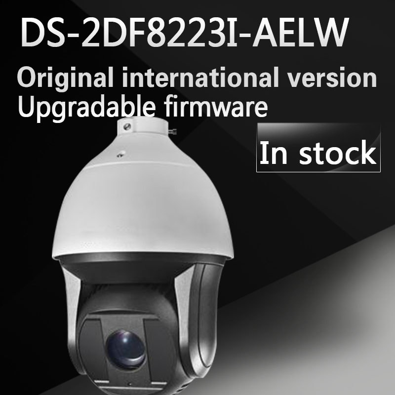 In stock Free shipping English version DS-2DF8223I-AELW 2MP Ultra-low Light Smart PTZ Camera 23X optical zoom with wiper and POE 2017 new ds 2df8836iv aelw english version 4k smart ir ptz camera poe camera with wiper