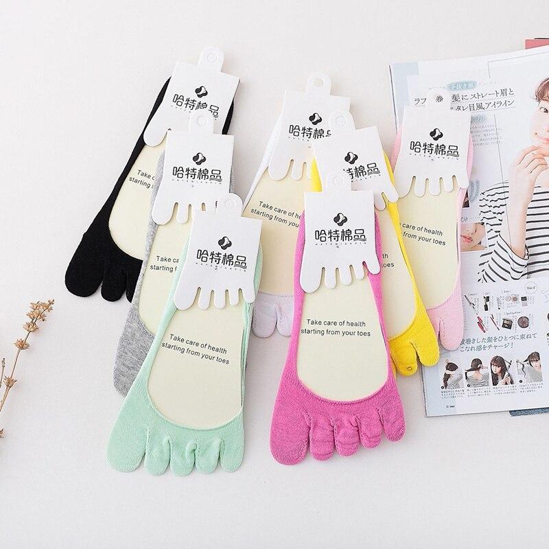 women Fashion New Womens Socks 5-Toe Colorful Cute Non Slip Soft Cotton Blended Ventilation Massage Toe Socks popsocket
