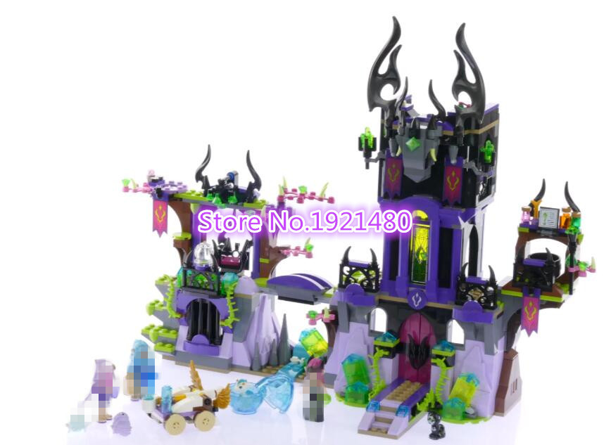 AIBOULLY 10551 Elves Ragana's Magic Shadow Castle building Blocks Bricks Toys for children Toys Christmas Gift Compatible 41180 10551 elves ragana s magic shadow castle building blocks bricks toys for children toys compatible with lego gift kid set girls