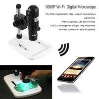 Ayarlanabilir Büyütme kadar 230x1080 P Full HD Wi-Fi Dijital Mikroskop için iOS/Android/PC Ile Manuel Odaklama standı AB Tak