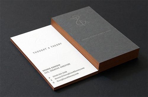 Chaud Vente Lgant Personnalis Carte De Visite Papier Dimpression Typographique Et Brun Bord Couleur Nom 600gsm Spcial Haut Qualit La