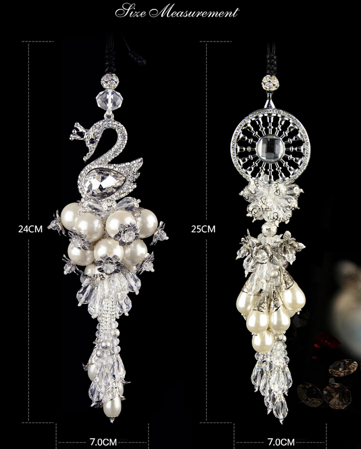 Fashion dream catcher swan ornaments car hanging pendant for Interieur accessoires