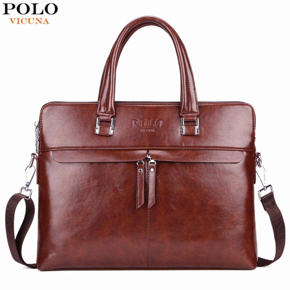 VICUNA POLO Causal Business Double Layer Business Man Briefcase Large Brand Mens Leather Laptop Bags OL Men Shoulder Bag Handbag мыльница решетка fixsen raund fx 92109