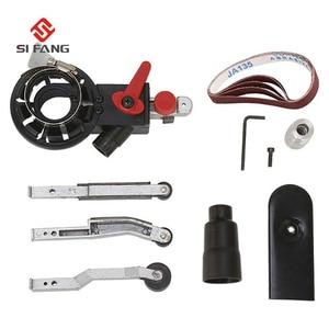 "Image 2 - 4""Sander Machine Sanding Belt Adapter Head Convert With Sanding Belts For Electric Angle GrinderWoodworking Grinding Power Tools"