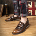 Tassel Leather Shoes Men Breathable Genuine Leather Men Shoes Casual Vintage High Quality