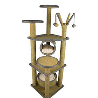 Sisal Pets Cat Climbing Frames Toys Interactive Gatos Shelves Pet Interesting Toys Supplies Cute Products For Kittens QQM2190