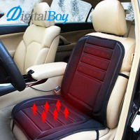 Digitalboy 12V Car Heated Seat Cushion Electric Warmer Pad Cushion Auto Heating Heater Carbon Fiber Warm