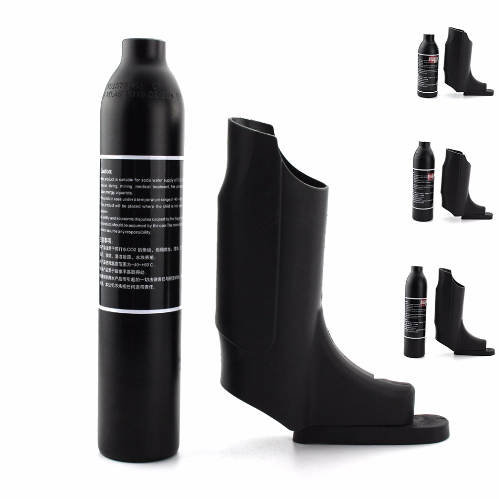 PCP Paintball Airforce 0.22L 0.3L 0.35L 0.45L High Pressure Tank HPA Cylinder Air Bottle Cover 300bar M18x1.5 Aluminum Alloy(China)