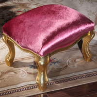 Italian Style Furniture Solid Wood Polished Paint Leaf Gilding Writing Desk Free Shipping