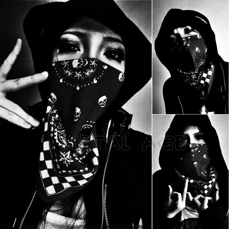 Metal Age Skull & Paisley Hiphop bandana, new school gangsta