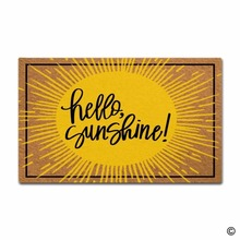Non-slip DoormatEntrance Floor Mat Hello Sunshine Creative Designed Door Indoor Outdoor Decorative Doormat Non-woven Fabric