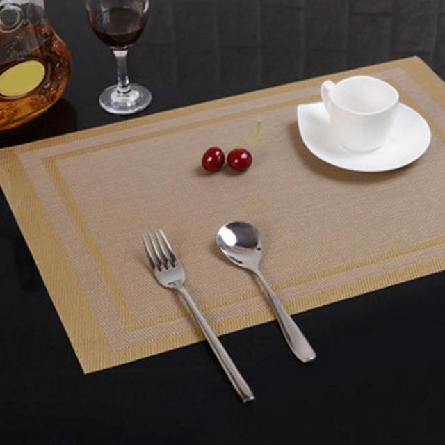 30*45cm Rectangle Insulated mats Dining Room Table Placemats PVC ...