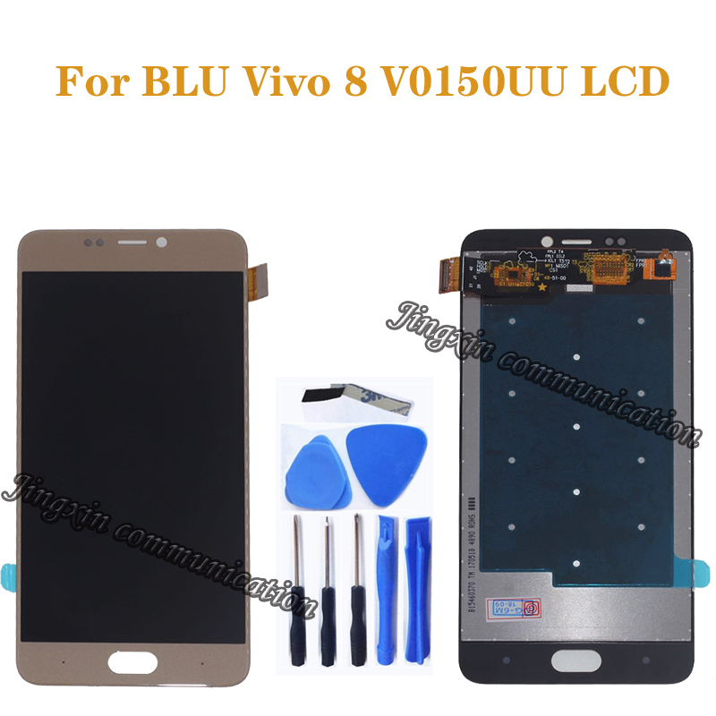 Original test for BLU Vivo 8 V0150UU LCD display + touch screen digitizer for BLU Vivo 8 V0150UU LCD screen repair parts-in Mobile Phone LCD Screens from Cellphones & Telecommunications