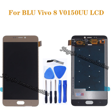 Original test for BLU Vivo 8 V0150UU LCD display + touch screen digitizer repair parts