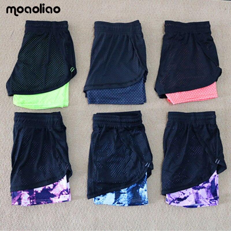 נשים מכנסי יוגה מכנסי ספורט מקצועי חוט נטו תרגיל ריצת אימון אימון מהיר יבש אחיד מכנסיים קצרים מכנסיים קצרים סקסיים