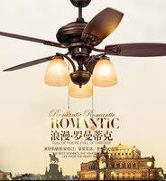 American retro fan light ceiling fan light Eastern Mediterranean restaurant light fan ceiling Nordic garden fan lamp bedroom