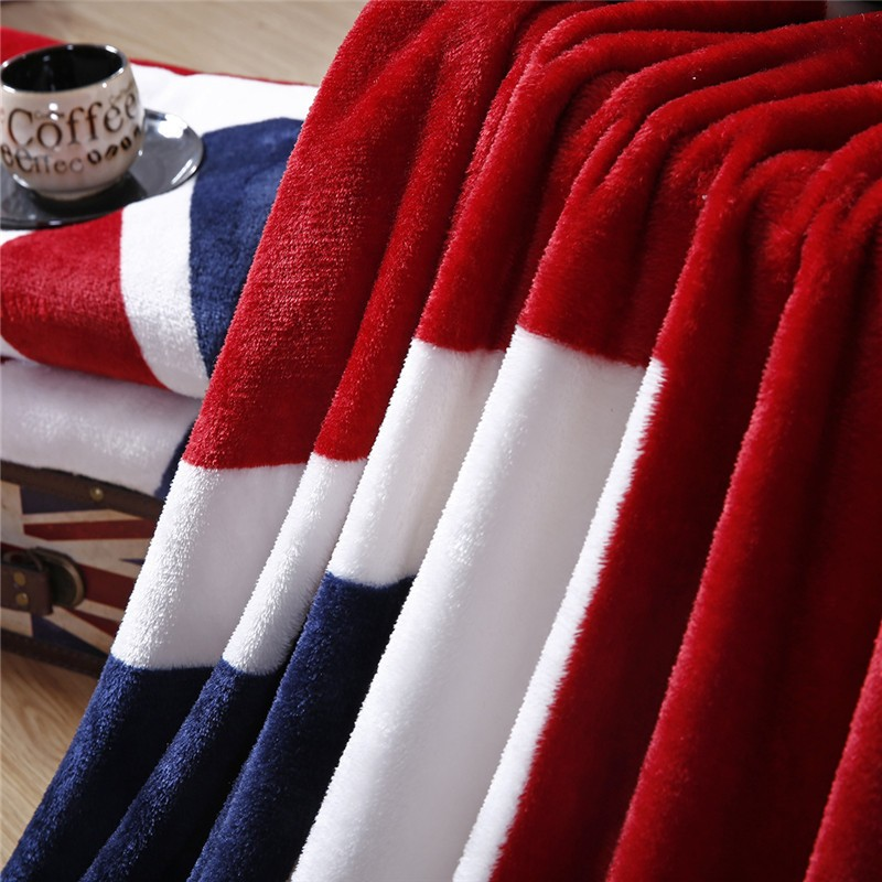 LYN GY 2018 New Canada British Flag American Flag Multifunction Blankets Soft Fleece Thin Plaid Print Air Sofa Throw Blanket in Blankets from Home Garden