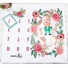 Baby Blankets Newborn Floral Unicorn Infant Swaddle Wrap