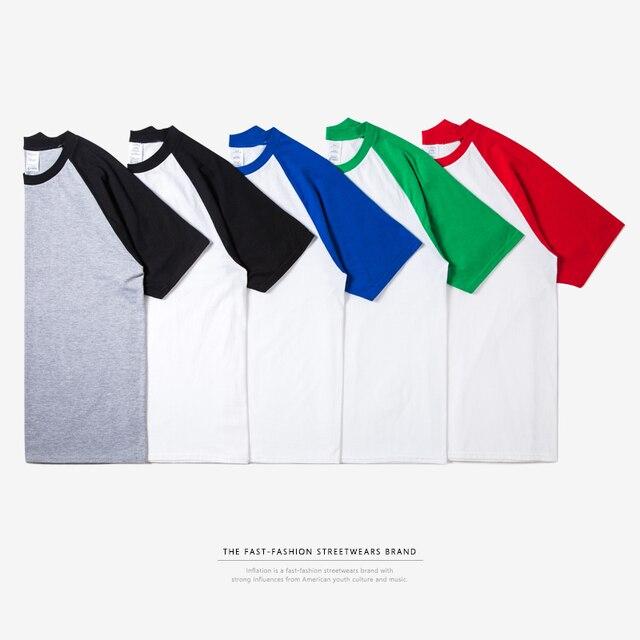 Enflasyon paket satış rahat T shirt Raglan Tee erkek beyzbol Tops moda eğilim Hip Hop kaykay moda Tshirt 0054S17