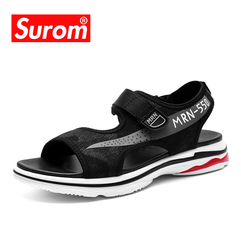 SUROM New Mens sandals Summer Breathable Air Beach Outdoor Shoes For Cool Boys Light Casual Krasovki Men Sandal sandalias