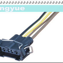 longyue 10pcs 4-pin universal female connector wiring harness new 15cm  ly-0012