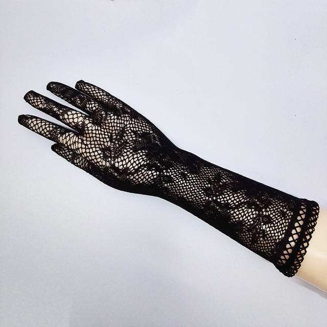 Sexy transparent lace elastic gloves bride Long-sleeve gloves mesh liturgy gloves sexy gloves lace 610 3