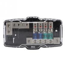 30A 60A аудиомагнитолы автомобильные стерео ANL лезвие держатель предохранителя распределительные блоки 04GA 4 способ предохранители коробка блок универсальны…