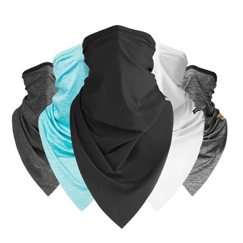 Summer Sport Scarf Ice Neck Scarf Sun Protective Mask Cycling Headwear Half Face Mask Mtb Bike Triangle Scarf