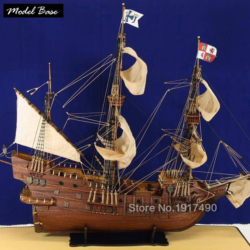 Modèles de navires en bois Kits échelle 1/90 3d découpé au Laser modèle Bots bricolage Train passe-temps modèle bateau bateaux en bois éducatifs San Francisco1607