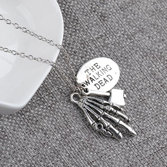 Walking Dead Alloy Pendant & Necklace jewellery gift
