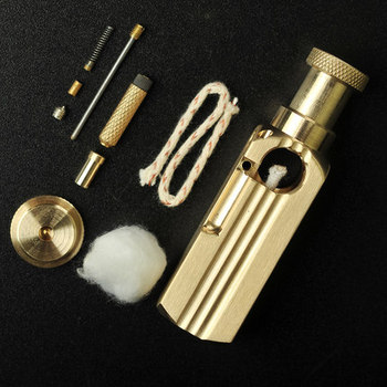 Briquet Gift Handmade Brass Oil Lighter4