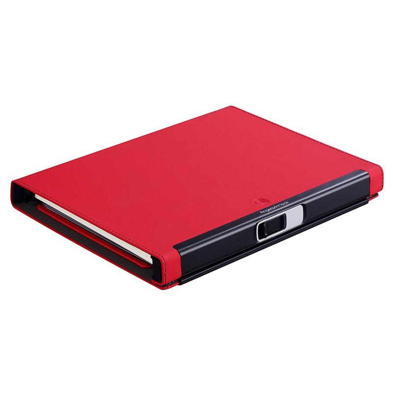 Fingerprint lock Multi function management book plan Notepad agenda business meeting notebook planner Gel Pen memo