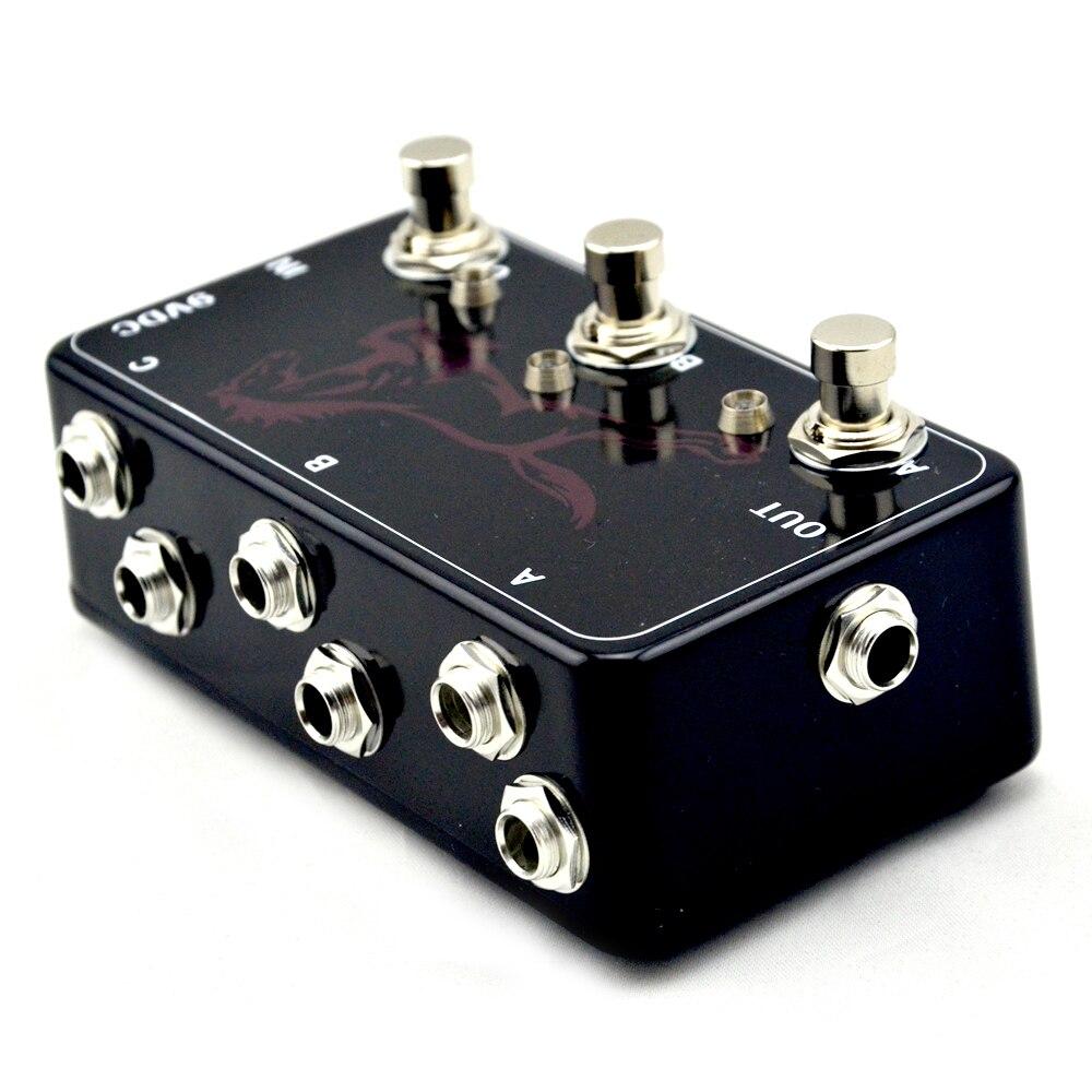 Pédale de boucle Triple effets faite à la main-3 HB-1 de pédale de guitare de commutateur de Looper - 4