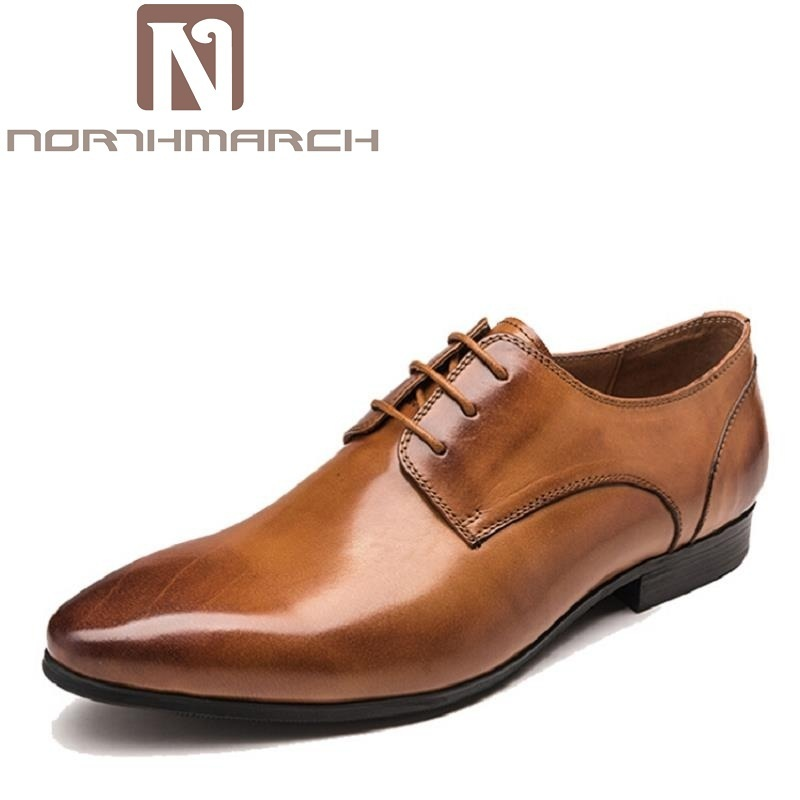 NORTHMARCH Brand Genuine Leather Men Dress Shoes Luxury Fashion Designer Mens Shoes Casual Male Footwear Zapatos Hombre new fashion men luxury brand casual shoes men non slip breathable genuine leather casual shoes ankle boots zapatos hombre 3s88