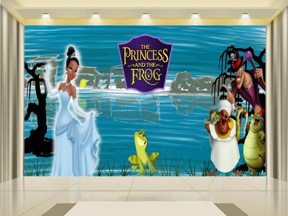 Custom size 3d photo wallpaper kids room mural The prince and The frog painting TV background non-woven wallpaper for walls 3d custom photo 3d wallpaper mural non woven the wolf in the night background wall painting living room wallpaper for walls 3d