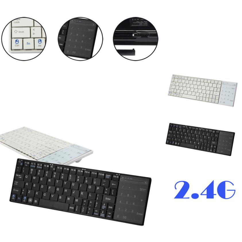 2017 Top sale New Wireless Bluetooth 3.0 Ultra Slim Mini Keyboard Touch Pad Mouse For iOS Windows Android for LOL DOTA CF Nice