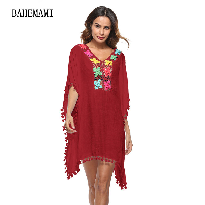 BAHEMAMI Pregnant Women dress Embroidery Maternity V-NECK summer Dress Plus Size Pregnancy clothes for Pregnant Women clothing