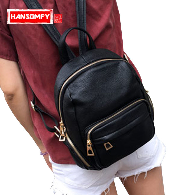 Women Backpacks personality modeling hit the color of the small female backpack multi-bag casual Genuine leather shoulder BagsWomen Backpacks personality modeling hit the color of the small female backpack multi-bag casual Genuine leather shoulder Bags