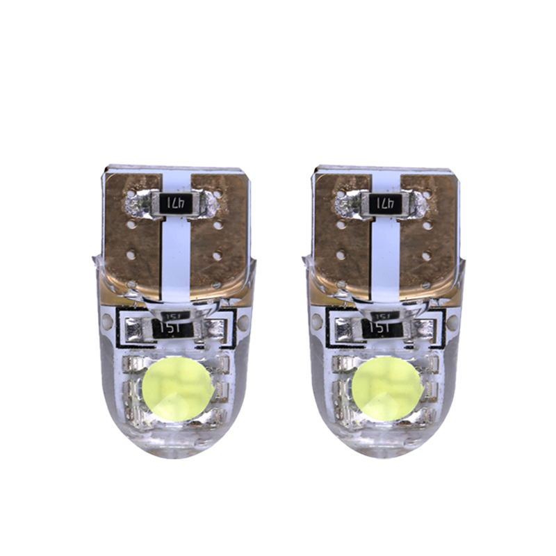 10pcs T10 194 168 W5W COB SMD 1W 80Lumen Silica Super Bright LED Turn Side License Plate Light Lamp Bulb DC12V