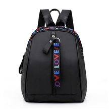 2018 New Women Mini Backpack Black Nylon Small Travel School Bags For Teenage Girls mochilas mujer Bagpack
