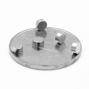 5000pcs Strong Round Dia  4mm x 2mm N35 Rare Earth Neodymium Magnet Art Craft Fridge 4x2mm