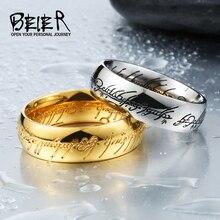 Властелин байер exqusite колец популярные нержавеющей кольцо стали изделия ювелирные мужская