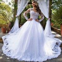 Новинка 2019 года удивительный поезд свадебное платье Потрясающие средства ухода за кожей шеи Vestido De Noiva Свадебные платья, платья невесты