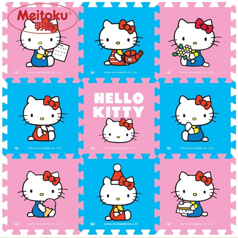 """Meitoku baby EVA foam spelen Puzzel mat / 9 stks / partij Cartoon Grijpende Oefening vloermat, elke 30 cm X 30 cm X 1 CM = 12 """"X12"""" X3 / 8 """""""