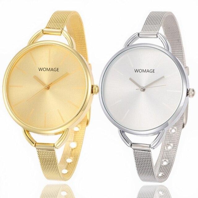 Luxury Gold Watches Women Stainless Steel Wrist Watch Ladies Women's Clock Hodin