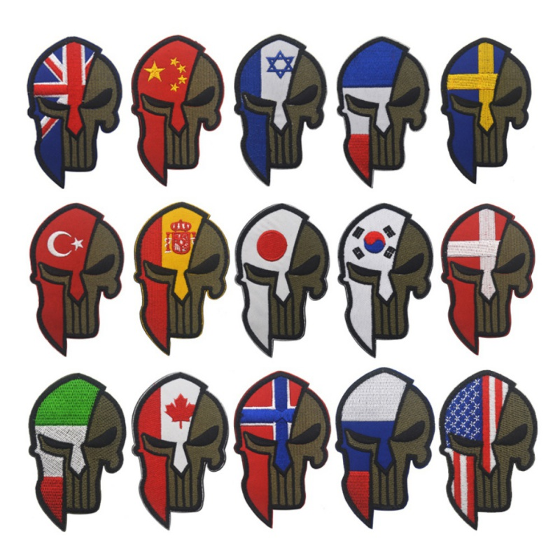 Military Hunting Accessories Badges Sticker Hook Armband Tactics Stickers Punisher Flag Embroidered