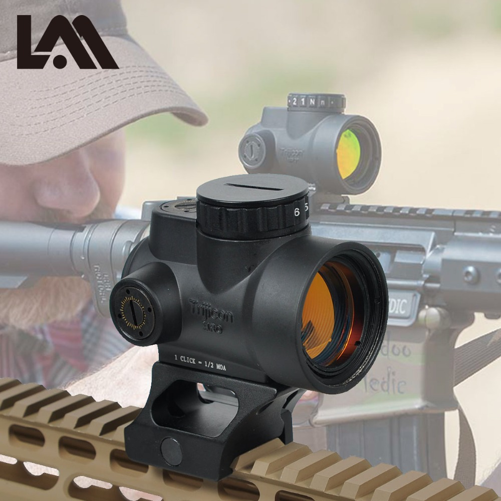 LAMBUL MRO Red Dot Sight 2 MOA AR15 Tactical Optic Trijicon Hunting Scopes With Low And Ultra High QD Mount Fit 20mm Rail