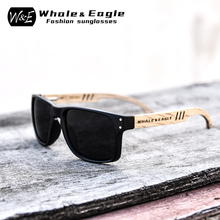 Sunglasses Men Wooden Zebra  UV400 W&E Polarized Sunglasses Women Beech Blue Green Lens Handmade Fashionable Brand Cool fashionable blue polarized lens bamboo frame sunglasses