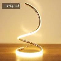 ArtPad Modern Art Decoration LED Table Lamps for Living Room Bedroom Lighting 110v 220v Spiral Bedside Table Lamp With EU/US 15W