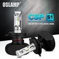 Oslamp Auto Led H7 faro H13 9005 HB3 9006 HB4 Led H4 bulbo del coche 6500 K CSP Chip 50 W 8000lm Fan-menos H8 H11 lámpara todo-en-uno